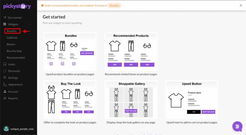 pickstory create bundle