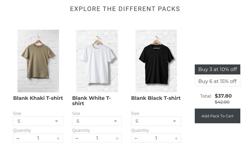 fashion shopify product kit