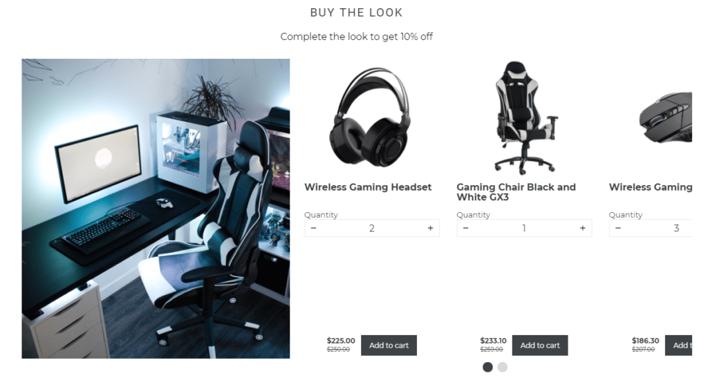 shopify shop the look