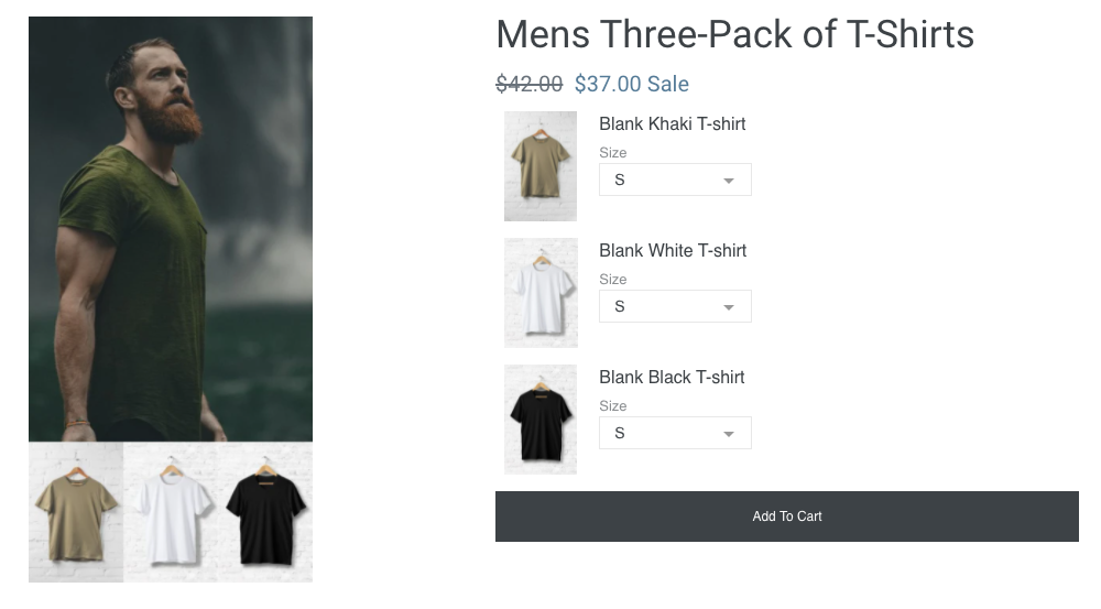 Shopify combo product