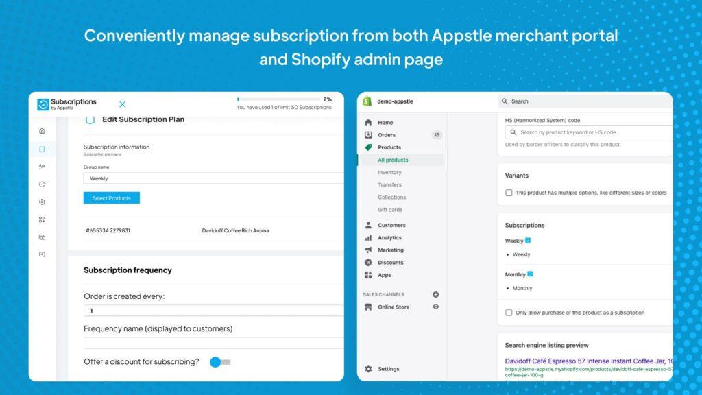 shopify subscription app