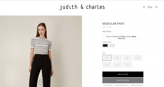 judithandcharles - shop the look button